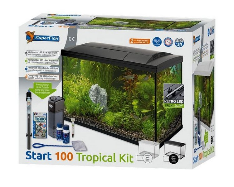 Superfish Start 100 Tank - Complete Set Up - Black 100L