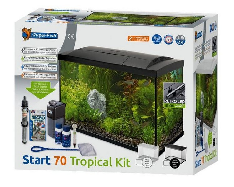 Superfish Start 70 Tank - Complete Set Up - Black 70L